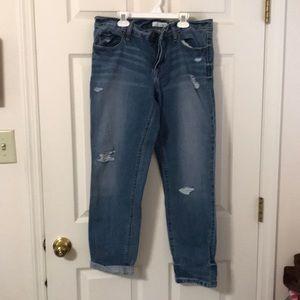 Loft boyfriend jeans with frayed spots 28/6